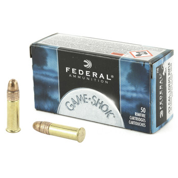 Federal GameShok, 22LR, 40 Grain, Copper Round Nose, 50 Round Box 710, UPC : 029465056148