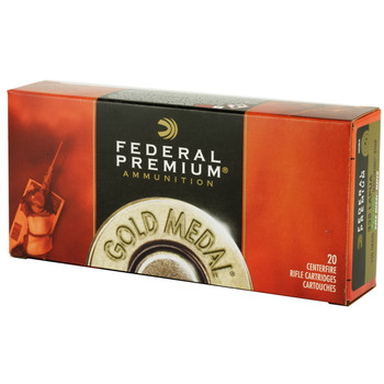 Federal Gold Medal, 338 Lapua 250 Grain, Boat Tail, Hollow Point, 20 Round Box GM338LM, UPC : 029465061128