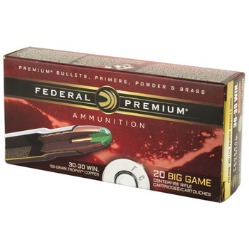 Federal Trophy Tip, 30-30, 150 Grain, Bonded Hollow Point, 20 Round Box P3030TC1, UPC :604544611908