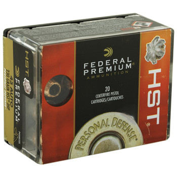 Federal Premium, 45ACP, 230 Grain, Jacketed Hollow Point, 20 Round Box P45HST2S, UPC : 029465063948