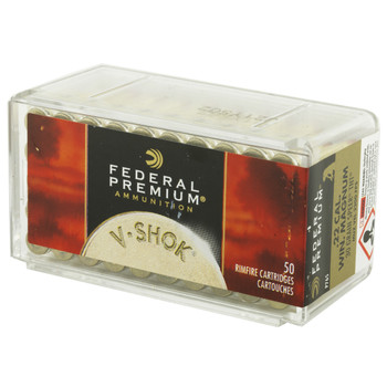 Federal Premium, 22WMR, 30 Grain, Jacketed Hollow Point, 50 Round Box P765, UPC : 029465056988