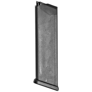 Glock OEM Magazine, 10MM, 10Rd, Fits GLOCK 20, Cardboard Style Packaging, Black Finish 2010, UPC :764503100208