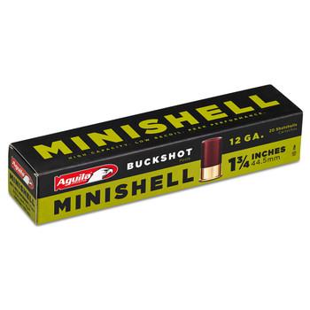 Aguila Ammunition Minishell, 12GA175, Buckshot, 20 Round Box 1CHB1288, UPC :640420002538