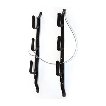 "Allen Three Gun Locking Gun Rack with Steel Construction, Black Finish, Adjusts to Fit Over Windows from 18"" to 26"" 18520, UPC : 026509185208"