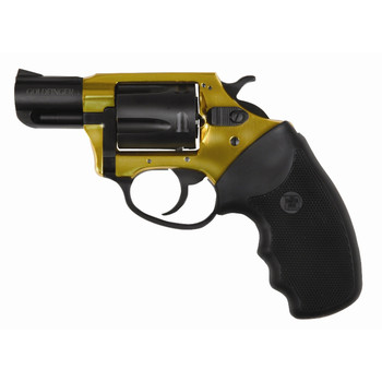 """Charter Arms Goldfinger, 38 Special, 2"""" Barrel, Aluminum Frame, Gold Finish, Rubber Grips, Fixed Sights, 5Rd, Ultra Lite, Fired Case 53890, UPC :678958538908"""