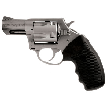"Charter Arms Mag Pug, 357 Magnum, 2.2"" Barrel, Ported, Steel Frame, Stainless Finish, Rubber Grips, Fixed Sights, 5Rd, Fired Case 73520, UPC :678958735208"