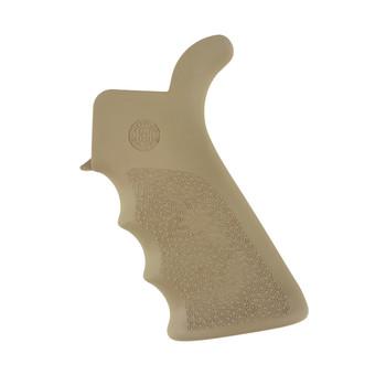 Hogue Grips Beavertail Grip, AR-15/M16, Rubber, Finger Grooves, Flat Dark Earth 15023, UPC :743108150238