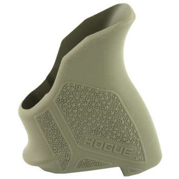 Hogue Grips HandAll Beavertail Pistol Grip, Fits Ruger LCP II, Rubber, Finger Grooves, OD Green 18121, UPC :743108181218