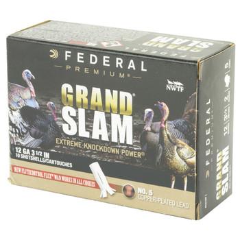 "Federal Grand Slam, 12 Gauge, 2.75"", #5, 1.5 oz, Flight Control, 10 Round Box PFCX156F 5, UPC :604544628098"