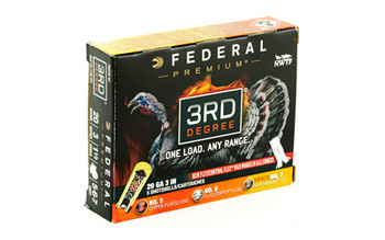 "Federal 3rd Degree, 20 Gauge, 3"", 5/6/7 Shot Combo, 1.75oz, Flight Control, 5 Round Box PTDX258 567, UPC :604544626698"