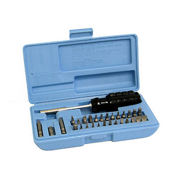 Lyman Gunsmith Kit, Tool, Slotted/Hex/Phillips Bits, Plastic Case 3047, UPC : 034337030478