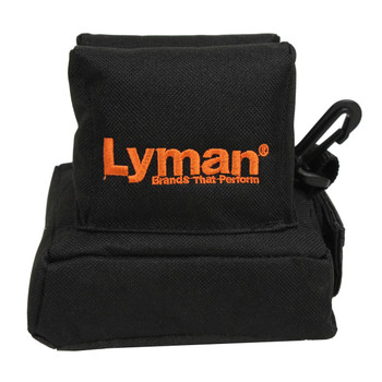 Lyman Universal Bag Rest, Filled, Black, Standard Size, Features a Notched Design which holds the Rifle Stock in place 7837804, UPC : 011516778048