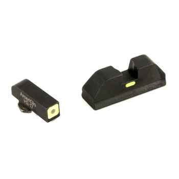 AmeriGlo CAP - Combative Application Pistol Sight, Fits Glock 20,21,29,30,31,32,36, Green/Green, Green Tritium Font Sight with Lumi Outline, Rear Sight With Lumi Horizontal Center Line GL-615, UPC :644406905868