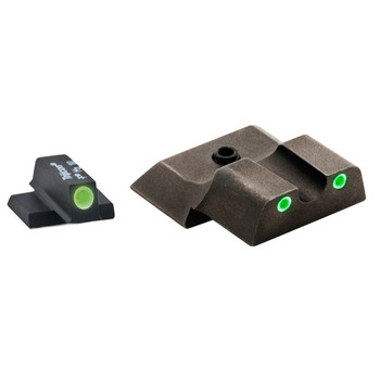AmeriGlo Classic Series 3 Dot Sights for S&W M&P, Green/Green, Front and Rear Sights SW-145, UPC :644406905998
