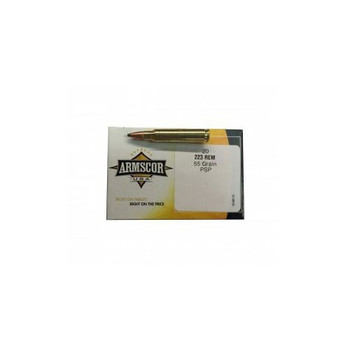 Armscor 223 Rem, 55 Grain, Pointed Soft Point, 20 Round Box AC223-2N, UPC :812285021898