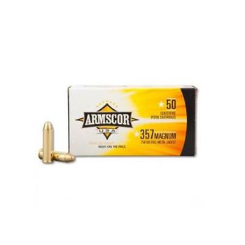 Armscor 357MAG, 125 Grain, Full Metal Jacket, 50 Round Box FAC357-2N, UPC :812285020068