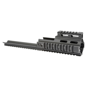 Midwest Industries Rail Extension, Fits FN SCAR, Features 2 Quick Detach Sling Swivel Points and One Continuous Bottom Rail for Accessories Mounting, Black Finish MI-S1617, UPC :816537015758
