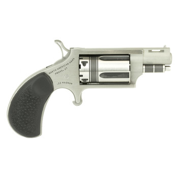 """North American Arms WASP Snub, Micro Compact, 22WMR, 1.125"""" Barrel, Steel Frame, Stainless Finish, Rubber Grips, 5Rd NAA-22MS-TW, UPC :744253002328"""