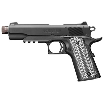 "Browning 1911-22, Black Label, Suppressor Ready, Semi-automatic, Full Size, 22LR, 4.88"" Threaded Barrel, Aluminum Frame And Slide, Black Finish, Composite Grips, 10Rd 051820490, UPC : 023614044178"