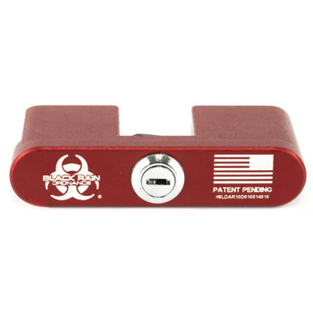 Black Rain Ordnance AR-10  Safety Lock, Laser Engraved, Aircraft Grade Aluminum, Red Anodized Finish BRO-LOCK-308, UPC :643451992328