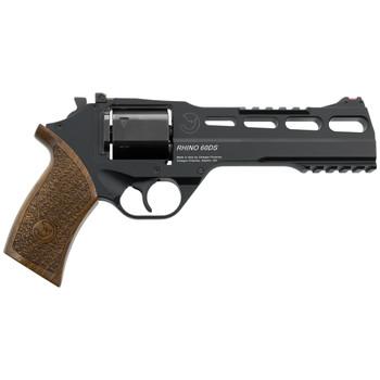 "Chiappa Firearms Rhino 60SAR Revolver, Single Action, 9MM, 6"", Alloy Frame, Black Finish, Walnut Grips, 6Rd, 3 Moon Clips, Fiber Optic Front Sight CF340-279, UPC :8053670717398"