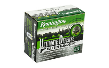Remington Ultimate Defense, 40S&W, 180 Grain, Brass Jacketed Hollow Point, 20 Round Box 28939, UPC : 047700419008