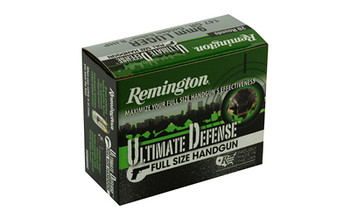 Remington Ultimate Defense, 9MM, 147 Grain, Brass Jacketed Hollow Point, 20 Round Box 28946, UPC : 047700471808