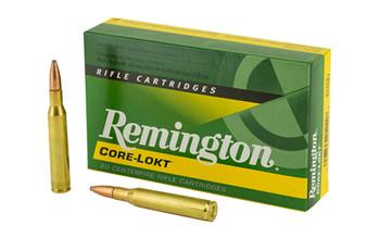 Remington Core Lokt, 270WIN, 130 Grain, Pointed Soft Point, 20 Round Box 27808, UPC : 047700052908