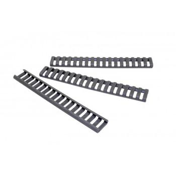 Ergo Grip Rail Protector, Rail Covers, Fits 18 Slot Ladder, Black Finish 4373-3PKBK, UPC :874748001908