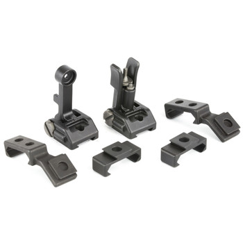 Griffin Armament M2 Sight Deploy Kit, Front/Rear Folding Sights, Fits Picatinny Rails, Matte Black Finish, Includes 12 O'Clock & 45 Degree Bases GAM2DK, UPC :791154082768