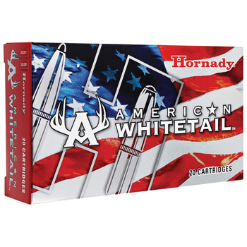 Hornady American Whitetail, 7MM REM, 139 Grain, Soft Point, 20 Round Box 80591, UPC : 090255805918