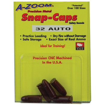 A-Zoom Snap Caps, 32 ACP, 5 Pack 15153, UPC :666692151538