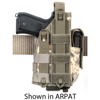 BLACKHAWK! Omega VI Ultra Holster, Universal Handgun Fit Equipped With Light or Laser, Ambidextrous, Coyote Tan 40MLH1CT, UPC :648018027208