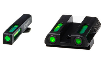 Hi-Viz LiteWave H3 Tritium/Litepipe Night Sights, Fits Glock 42 and 43, Green Front and Rear GLN321, UPC :613485589658