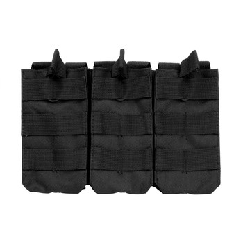 NCSTAR Triple AR Magazine Pouch, Nylon, Black, MOLLE Straps for Attachment, Fits Three AR Style Magazines CVAR3MP2928B, UPC :814108016388