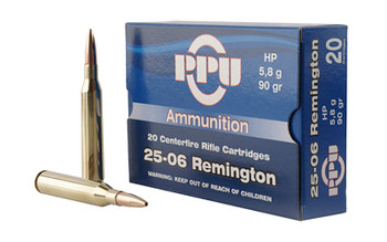Prvi Partizan Rifle, 25-06 Rem, 90 Grain, Hollow Point, 20 Round Box PP2506H, UPC :8605003812388