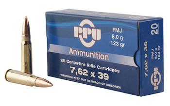 Prvi Partizan Rifle, 762X39, 123 Grain, Full Metal Jacket, 20 Round Box PP76239F, UPC :8605003812838