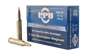 Prvi Partizan Rifle, 7MM Rem, 140 Grain, Pointed Soft Point, 20 Round Box PP7RM1, UPC :8605003812678