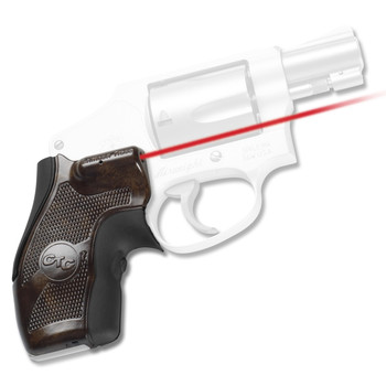Crimson Trace Corporation Hi-Brite LaserGrip, Fits S&W J Frame With Round Butt, Rubber Overmold LG-405, UPC :610242004058