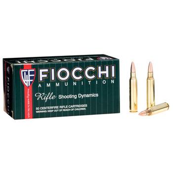 Fiocchi Ammunition Rifle, 223 Remington, 55 Grain, Full Metal Jacket Boat Tail, 50 Round Box 223A, UPC :762344704968