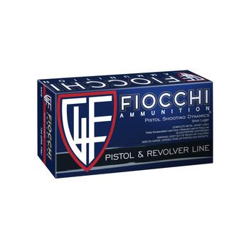 Fiocchi Ammunition Centerfire Pistol, 9MM, 124 Grain, Full Metal Jacket, 50 Round Box 9APB, UPC :762344001678