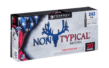 Federal Non Typical, 243 Win, 100Gr, Soft Point, 20 Round Box 243DT100, UPC :604544626988
