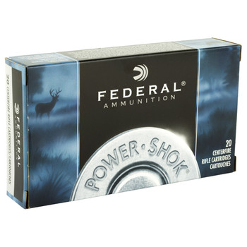 Federal PowerShok, 25-06REM, 117 Grain, Sierra, 20 Round Box 2506BS, UPC : 029465091378