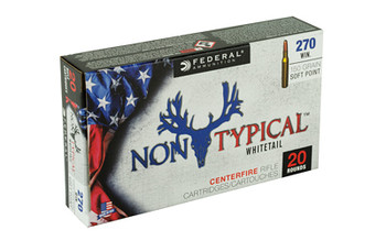Federal Non Typical, 270 Win, 150Gr, Soft Point, 20 Round Box 270DT150, UPC :604544627008