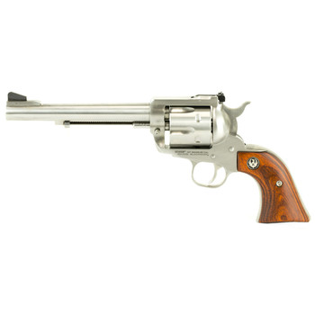 "Ruger Blackhawk, Single-Action Revolver, 357 Mag, 6.5"" Barrel, Satin Stainless Finish, Stainles Steel Frame, Hardwood Grips, Adjustable Rear Sight & Ramp Front Sight, 6Rd 00319, UPC :736676003198"