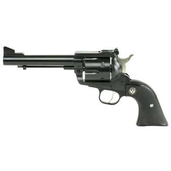 "Ruger Blackhawk Convertible, Single-Action Revolver, 45 Colt/45ACP, 5.5"" Barrel, Blued Finish, Alloy Steel, Aluminum Frame, Black Checkered Hard Rubber Grips, Adjustable Rear & Ramp Front Sight, 6Rd 00463, UPC :736676004638"