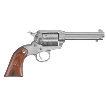 "Ruger Bearcat, Single-Action Revolver, 22 LR, 4.2"" Barrel, Satin Stainless Finish, Stainless Steel, Hardwood Grips, Internal Notch Rear & Blade Front Sight, 6Rd 00913, UPC :736676009138"