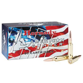 Hornady American Gunner, 6.5 CREEDMOOR, 140 Grain, Boat Tail Hollow Point, 50 Round Box 81482, UPC : 090255814828