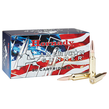 Hornady American Gunner, 6.5 CREEDMOOR, 140 Grain, Boat Tail Hollow Point, 50 Round Box 81482, UPC : 090255814828