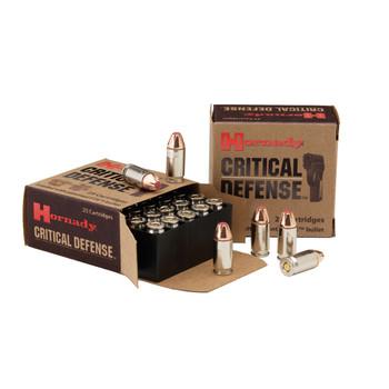 Hornady Critical Defense, 40S&W, 165 Grain, Hollow Point, 20 Round Box 91340, UPC : 090255913408